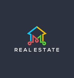Real estate building logo - modern and simple vector