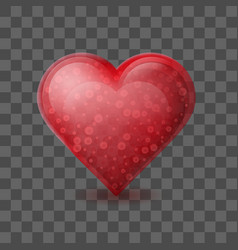 red heart with bubbles inside isolated on vector image