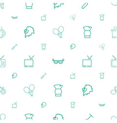 Retro icons pattern seamless white background vector