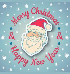 Santa vintage and snow 2017 vector image