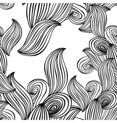 seamless pattern wave background black and white vector image