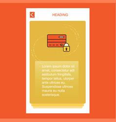 secure credit card mobile vertical banner design vector image