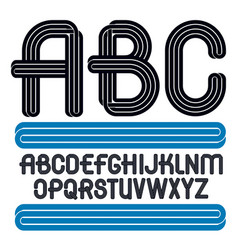 Set of capital funky alphabet letters isolated vector