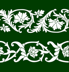 set of seamless floral patterns tape vector image