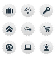 set of simple commerce icons vector image vector image