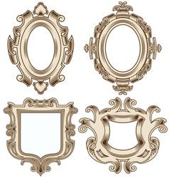 Set of vintage heraldic frames vector