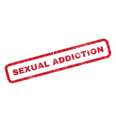 Sexual addiction rubber stamp vector