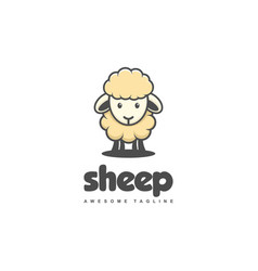 sheep concept template vector image