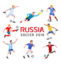 soccer football 2018 russia group soccer vector image