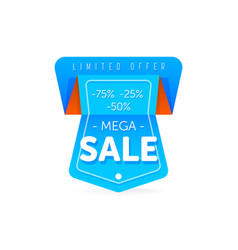 Special offer sale tag discount symbol vector