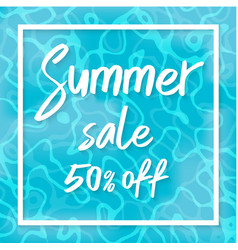 summer sale top view of summer vector image