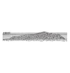 Table bay breakwater its unequalled understanding vector