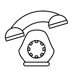 telephone communication appliance home outline vector image