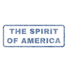 The spirit of america textile stamp vector