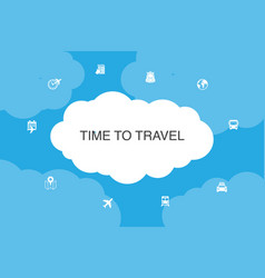 time to travel infographic cloud design template vector image