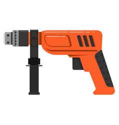 tool repair work drill holes hammer working vector image