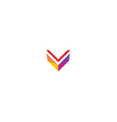 v colored modern logo vector image