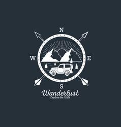 Wanderlust adventure logo vector