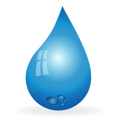 water tear drop vector image