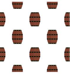 Wine wooden barrel pattern flat vector