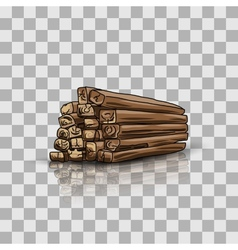 Wooden storage vector image