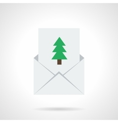 Xmas invitation simple flat icon vector image