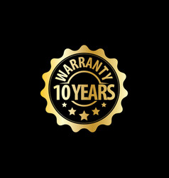 Years warranty stamp icon set vector