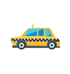Yellow Taxi Toy Cute Car Icon vector
