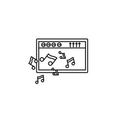 amplifier music notes icon vector image vector image