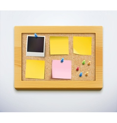 cork bulletin board vector image vector image