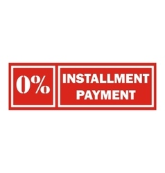 Icon payment installment red rectangular frame vector image