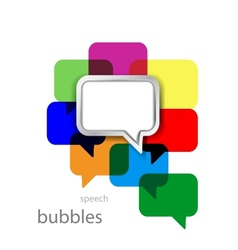metal speech bubble on color vector image