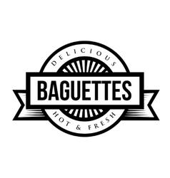 Baguettes vintage sign or stamp vector image vector image