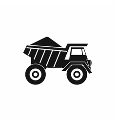 Dump truck with sand icon simple style vector image vector image