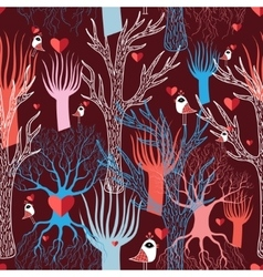 multicolored different trees vector image
