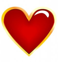 realistic illustration of golden heart vector image vector image