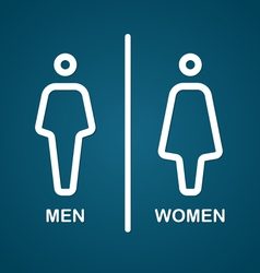 Restroom male and female sign vector image