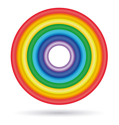 rings painted in colors of the rainbow vector image