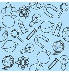 Science set pattern vector image vector image