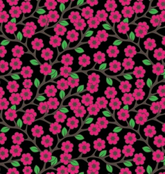 Flowers ornament seamless vector image