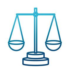 justice balance symbol vector image