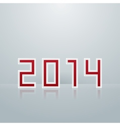 New Year Figures The First Option vector image