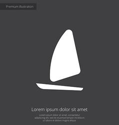 sail boat premium icon vector image