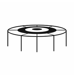 Trampoline icon simple style vector