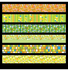 Abstract Mosaic Banners vector image vector image