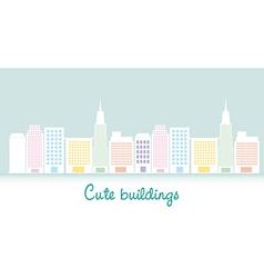 cute buildings vector image