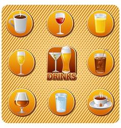 drinks menu vector image