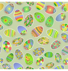 Seamless pattern of paper Easter eggs vector image vector image