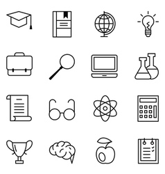 Set of web icons education and learning vector image