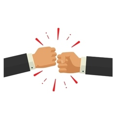 Two fists together hands in air bumping vector image vector image